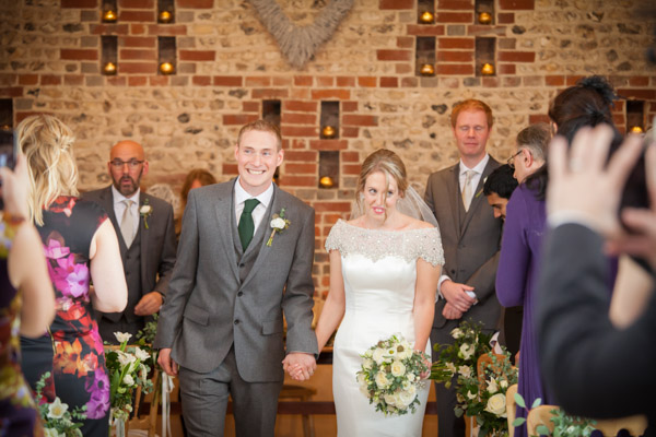 Upwaltham Barns Wedding | FitzGerald Photographic, winter wedding recessional