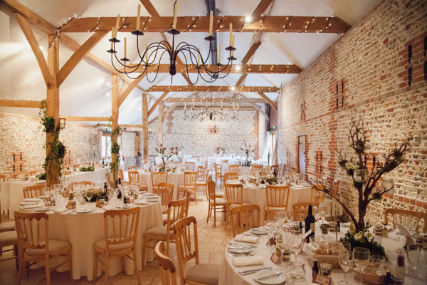 Upwaltham Barns Wedding | FitzGerald Photographic, reception set up