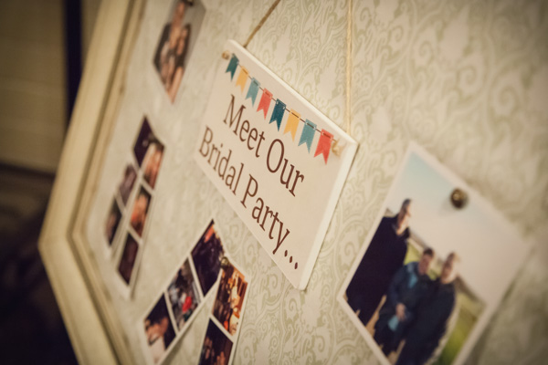 Upwaltham Barns Wedding | FitzGerald Photographic, bridal party photoboard, winter wedding