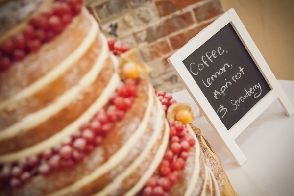 Upwaltham Barns Wedding | FitzGerald Photographic, winter wedding, naked wedding cake