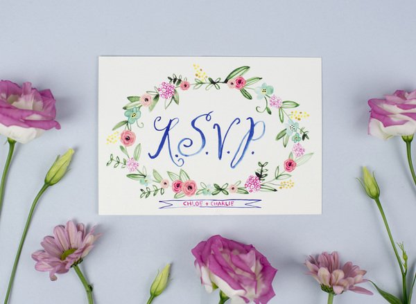 Painted Wedding Invitations: Hand Painted And Illustrated Wedding