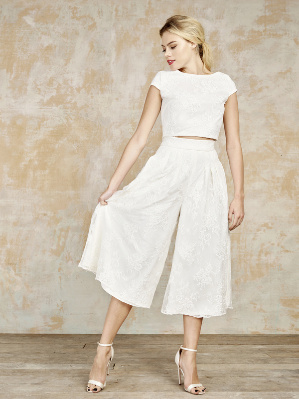 ivory_combo_culottes_and_capped_sleeve, house of ollichon, bridal jumpsuits, bridal separates, luxury jumpsuits, luxury bridal jumpsuits