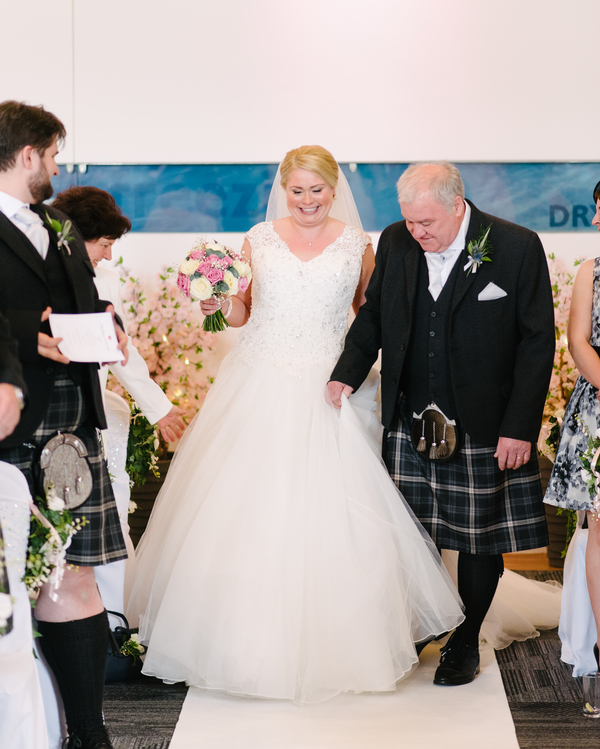 A Beautiful Edinburgh Wedding At Dynamic Earth With A