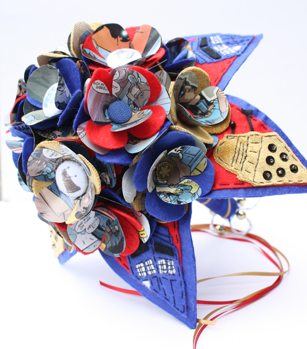 doctor-who-bouquet, alternative-bouquet, jamball creations