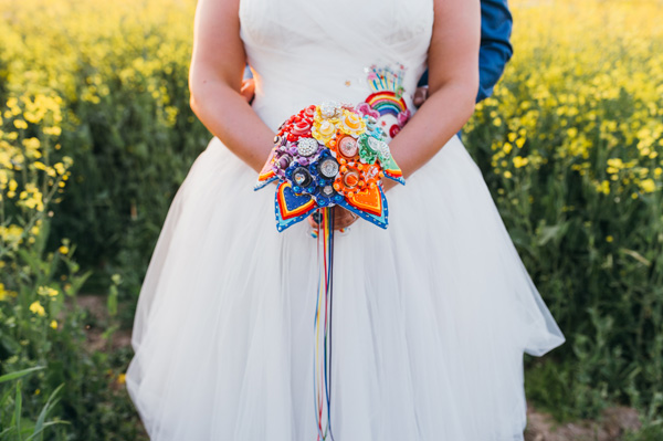 rainbow bouquet, image by Babb Photo, Jamball Creations, Alternative bouquets, MrsPandPs Sunday Morning Cuppa, Wedding Blog, Blog Catch up