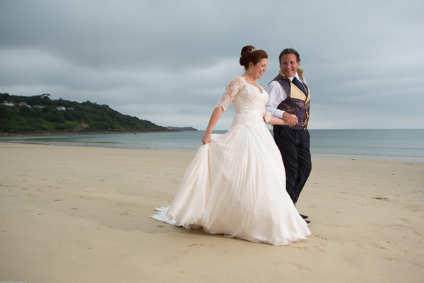 A beautiful Cornwall Wedding at the Carbis Bay Hotel with navy ...