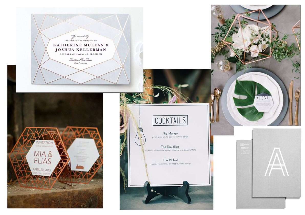 stationery, carmela weddings, urban minimalist wedding
