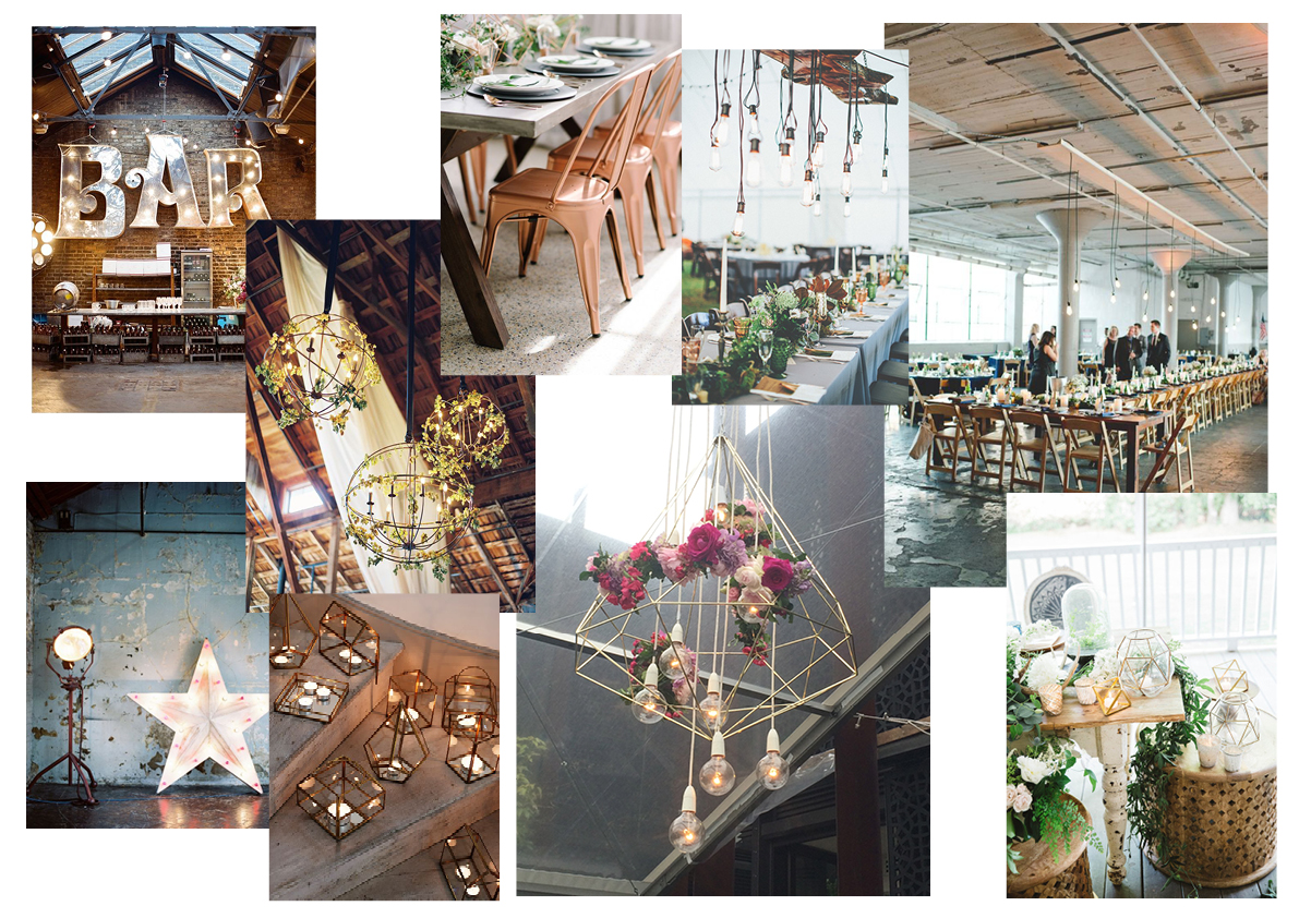 decoration, carmela wedding, urban minimalist wedding , style elements