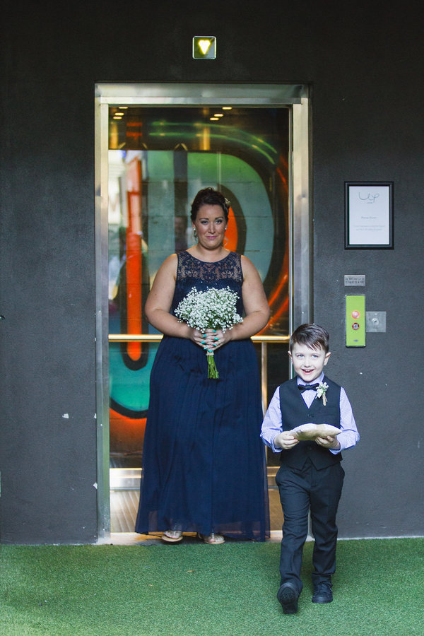 Alleyway wedding