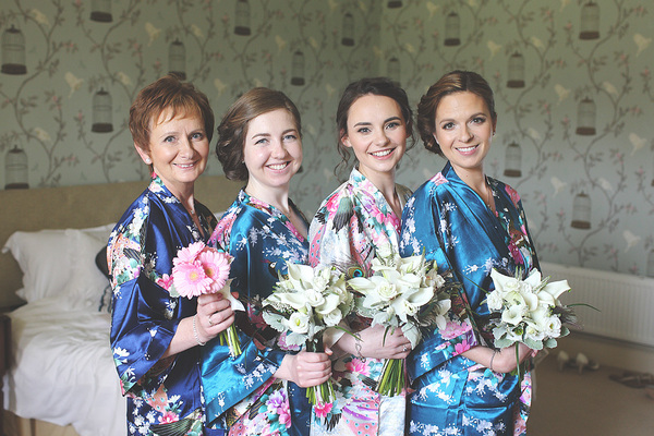 edinburgh wedding, oxenfoord castle, white and blue wedding details , bridesmaids
