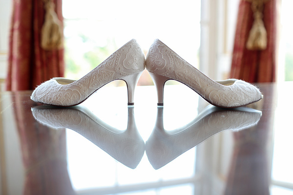 stuart craig photo, edinburgh wedding, oxenfoord castle, white and blue wedding details , wedding shoes