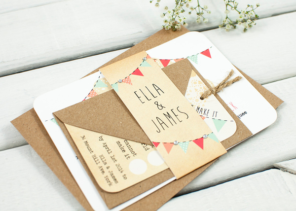 Gorgeous rustic hand crafted wedding stationery from NormaDorothy