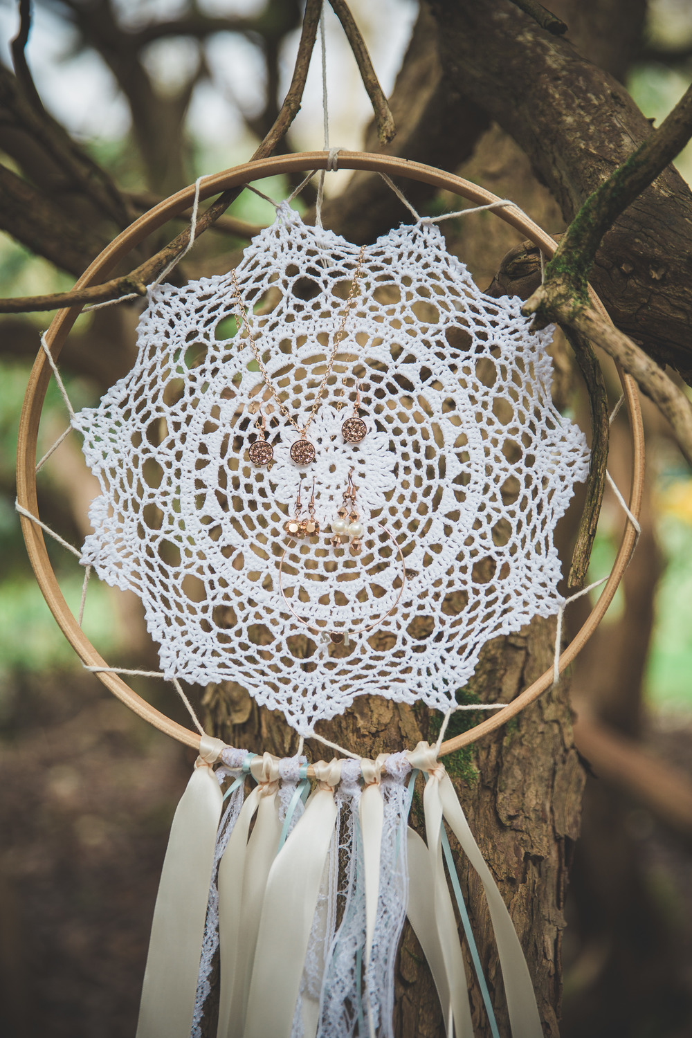 Dreamcatcher collection, LG Designs, bridal hair accessories, image - Tandem Photography