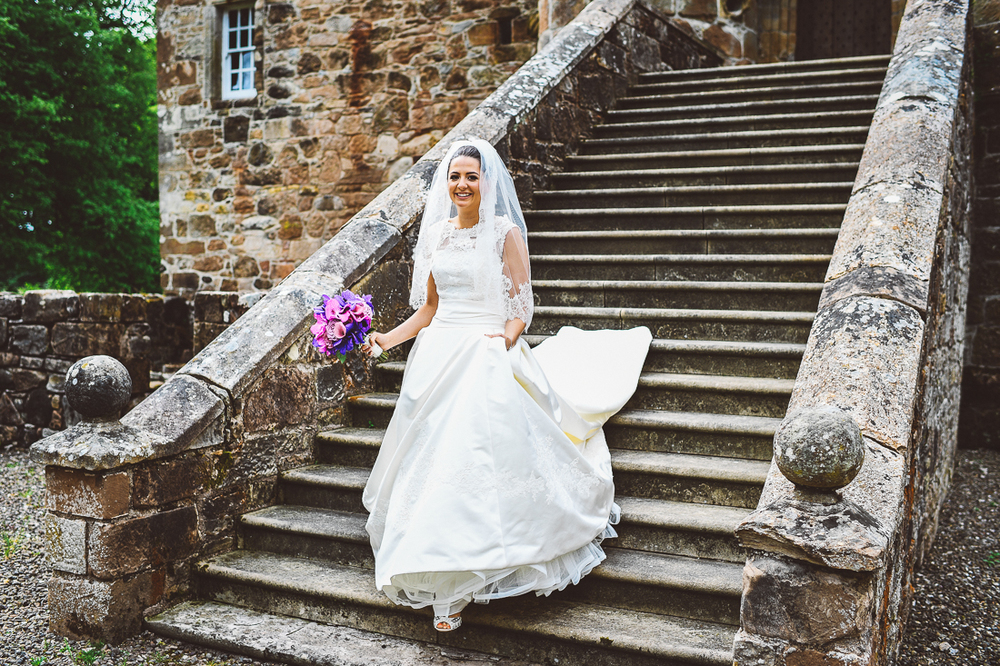 Rowallan-Castle-Tom-Cairns-Photography-Pronovias-Wedding-Dress-scottish-wedding-theme-cluedo-wedding-stationery (73)