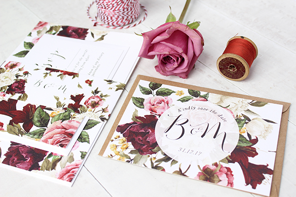 Rustic Rose, paper goods, wedding stationery, greetings cards, Belo Paperie