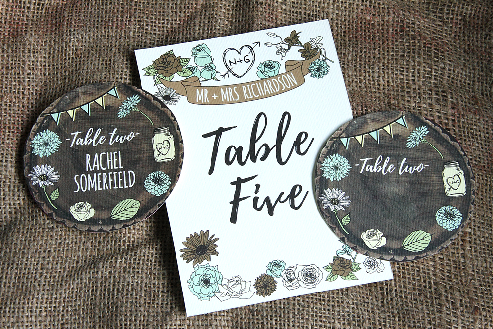 Whimsical Woodland Stationery Table Numbers, wedding save the dates, wedding save the date magnets