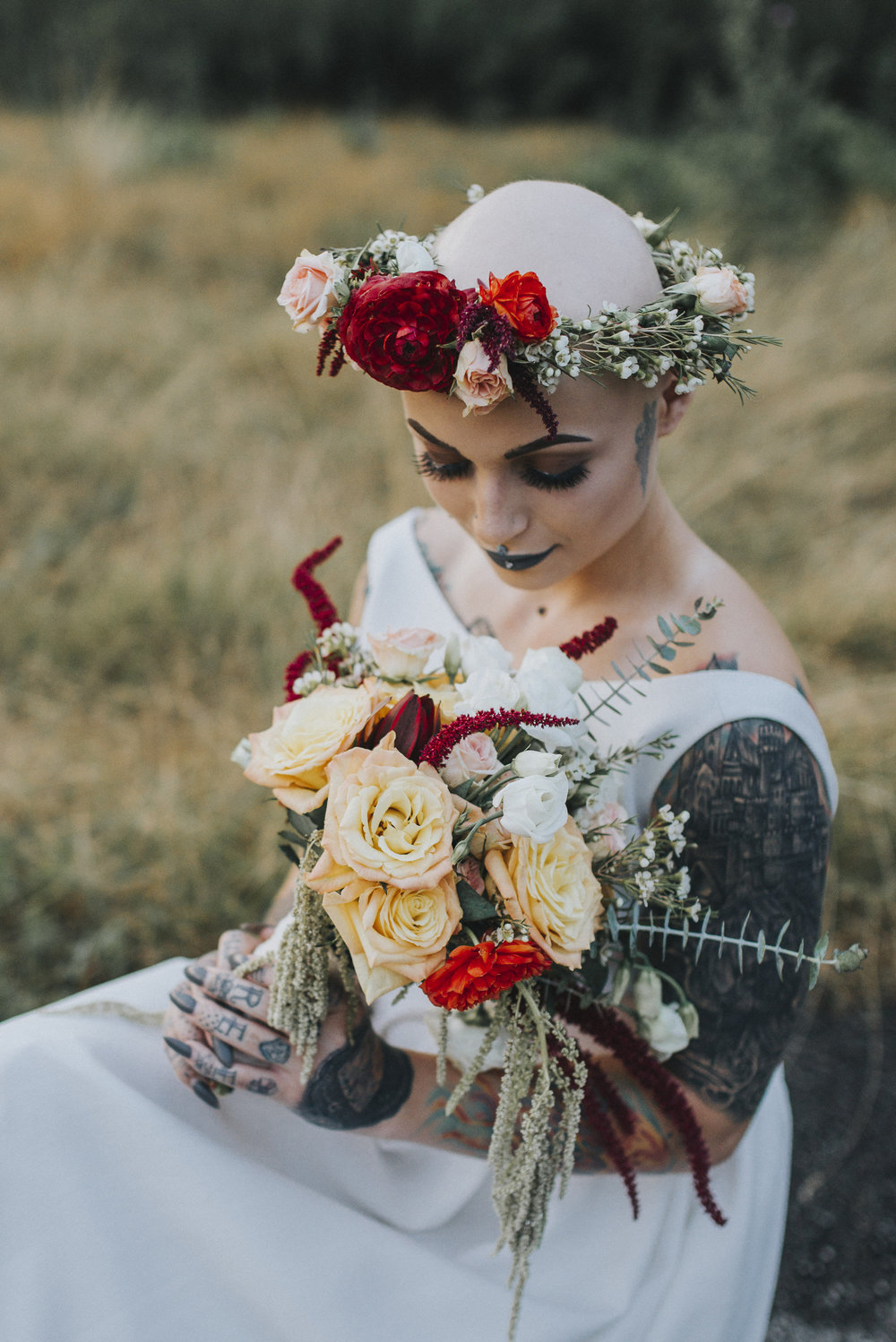 Fresh Flower Bouquet And Flower Crown Sapphire Lace Events And