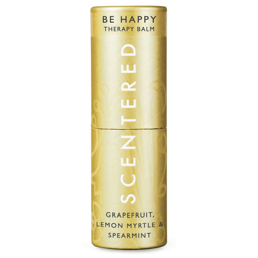 be happy, scentered therapy balm