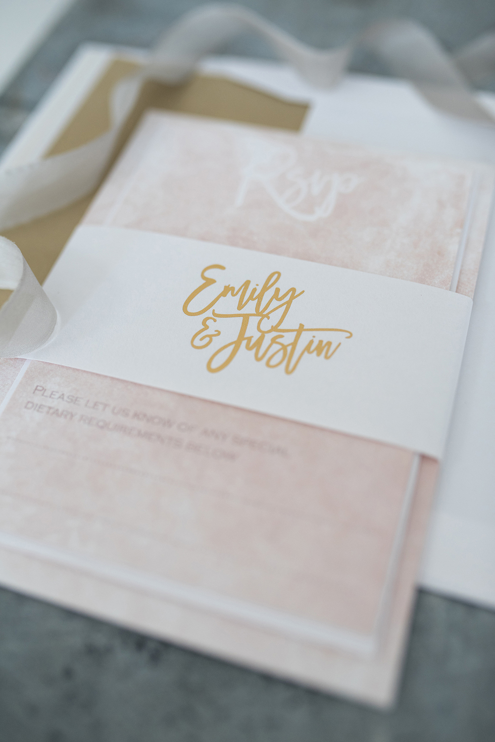 knots-and-kisses, blush-gold-marble-luxe-wedding-invitation-suite, Wedding stationery, image - Clare Kinchin Photography