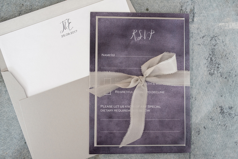 knots-and-kisses, stormy-skies-luxe-wedding-invitations, Wedding stationery, image - Clare Kinchin Photography