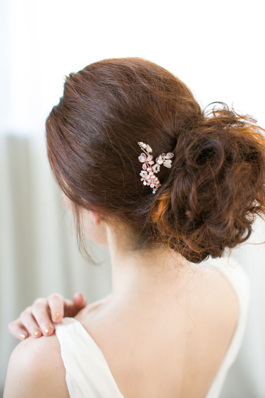 victoria-millesime, cherry-blossom-gold-dust-hair-pin, Image by Anneli Marinovich
