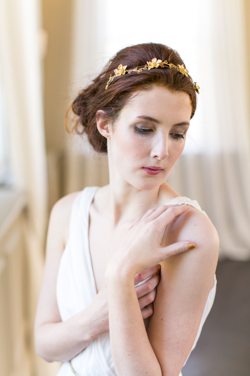 victoria-millesime, gold-dust-trailing-flowers-headpiece, Image by Anneli Marinovich