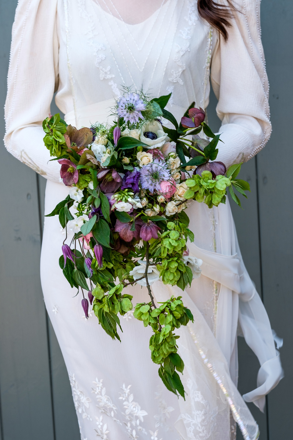 in-front-of-the-barn-doors, cow shed crail, fife wedding venue, image - suzanne black photography