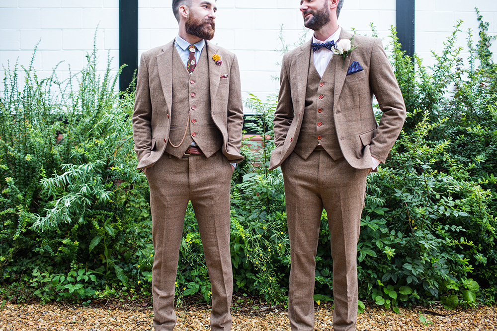 Vintage Suit Groomswear Wedding Retro