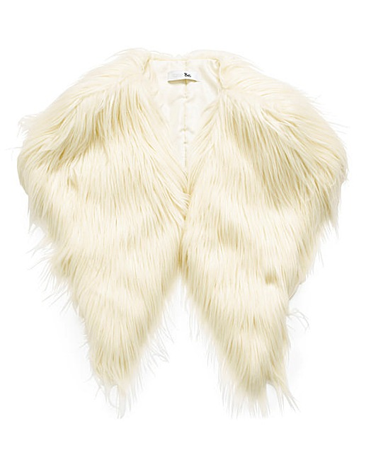 faux fur stole, simply be