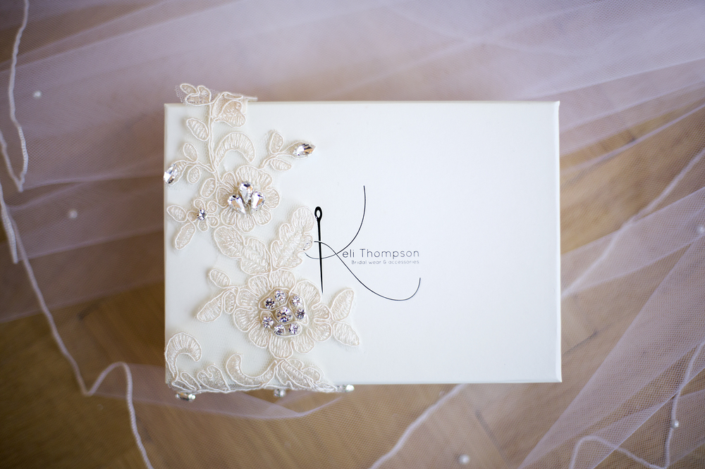 wedding garters, Keli Thompson, Lace and Diamante Garter