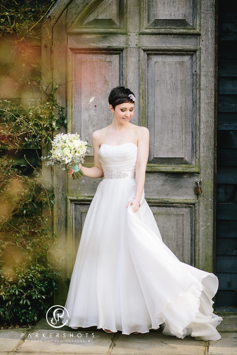 A Rustic Barn Wedding in Kent with a Gillian Million Wedding Gown ...