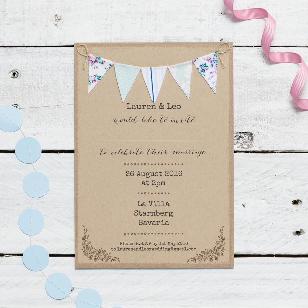 Beautiful Rustic inspired Wedding stationery from Cate Darcy Designs ...