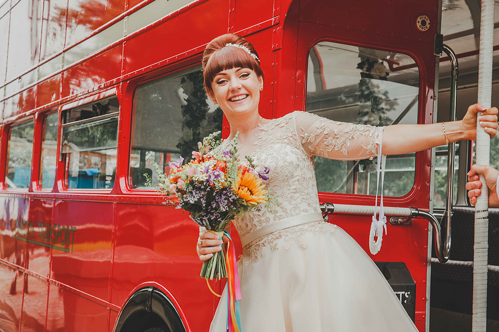 An Intimate Colourful Wedding With A Pub Reception A House Of