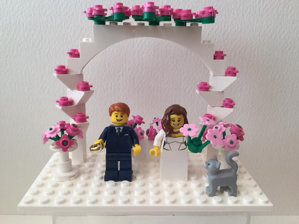 Customised Lego Cake Toppers For Weddings Events From Heart Of