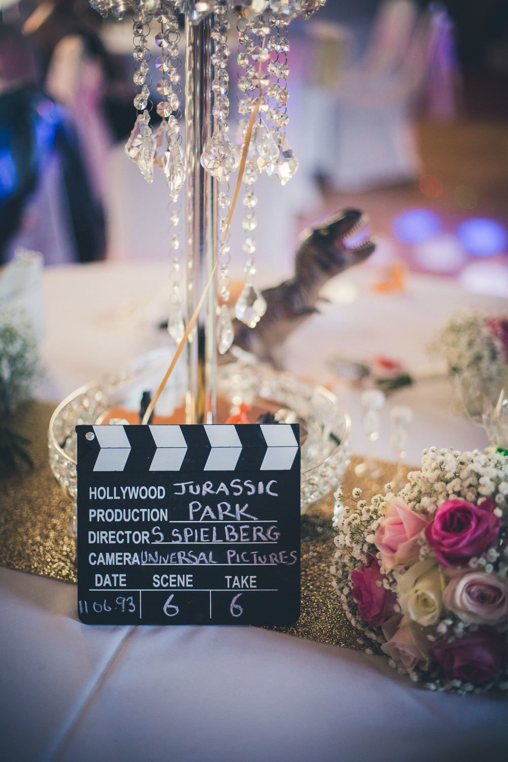 A Movie themed Wedding in Wales with a pink & white palette and the ...