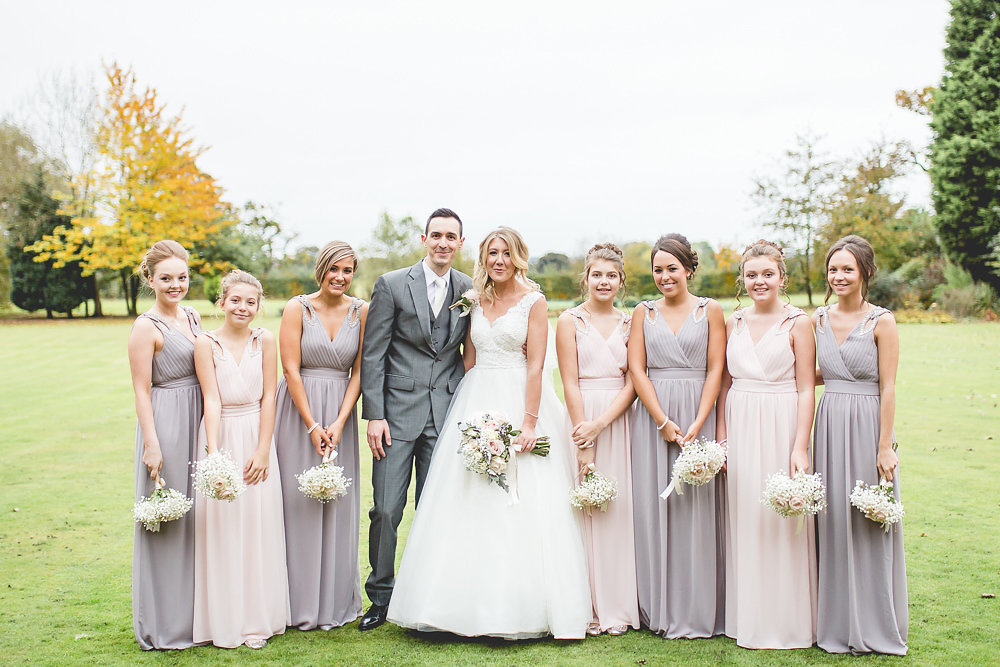 Elegant Wedding Dresses Cheshire : Wedding pink and grey palette elegant disney
