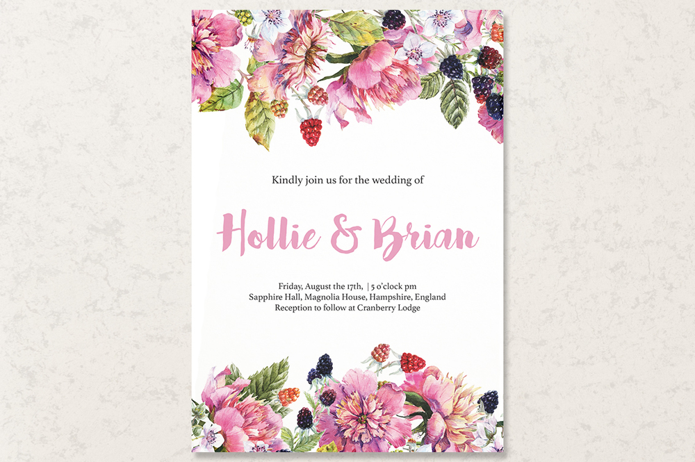 Bespoke customisable Stationery for Weddings & Events from Punch ...
