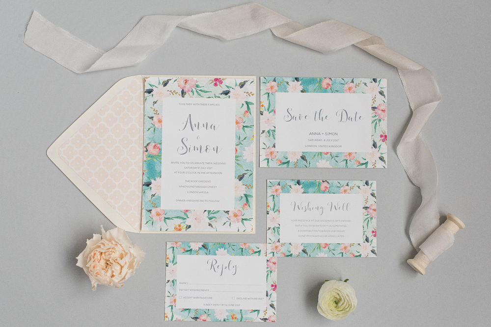 Beautiful Wedding Stationery Paper Goods from Polka Dot Paper UK