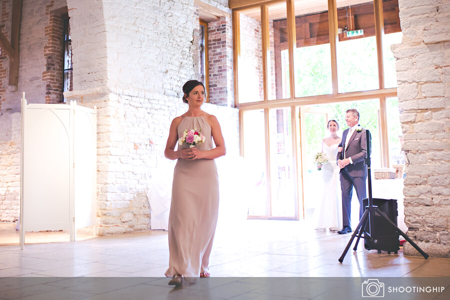A Suzanne Neville Dress For A Hampshire Barn Wedding With