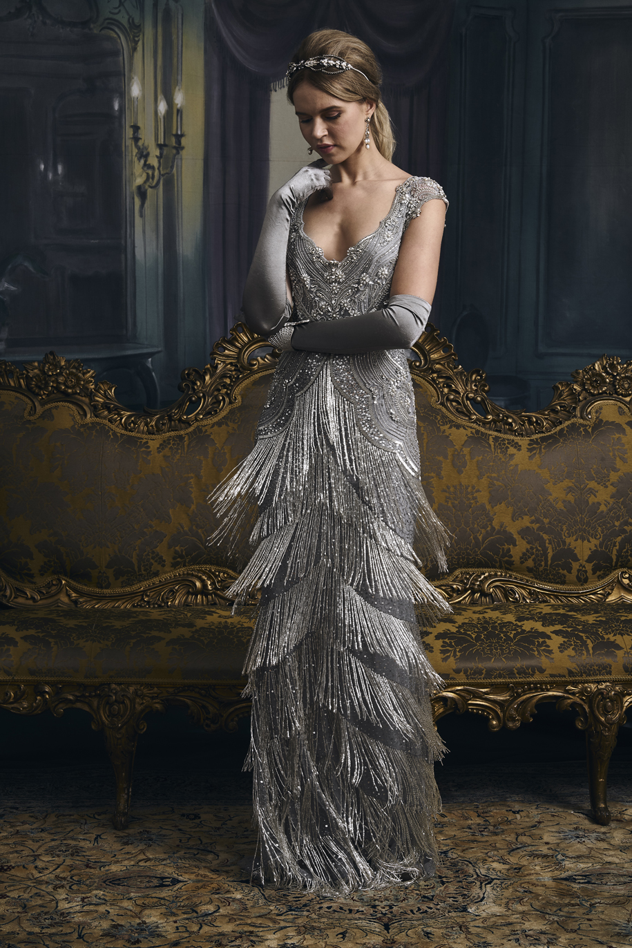 vintage inspired wedding dresses - Carlotta in Silver