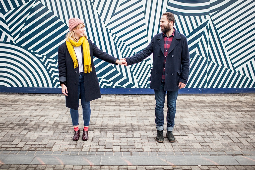 North Greenwich engagement shoot, London