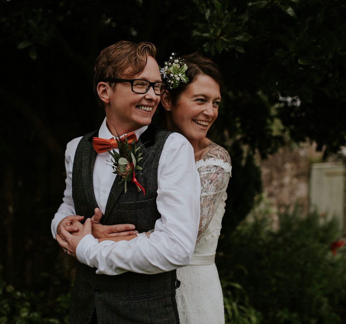 A Laidback And Colourful Same Sex Wedding In Cornwall Uk Wedding