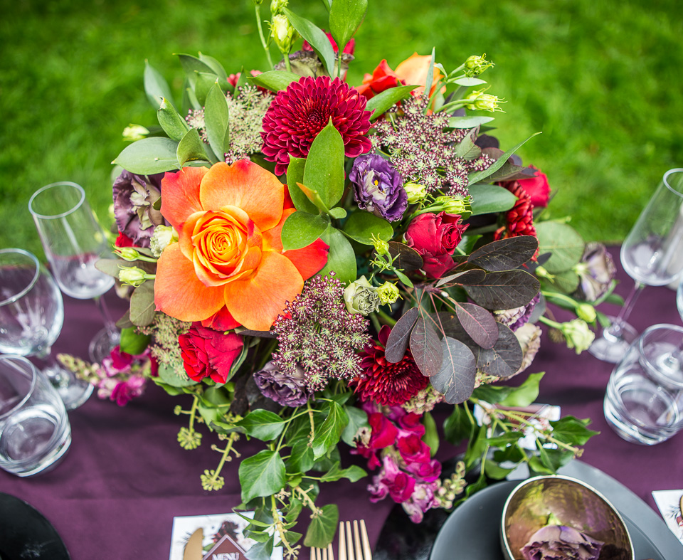 autumnal wedding styled shoot