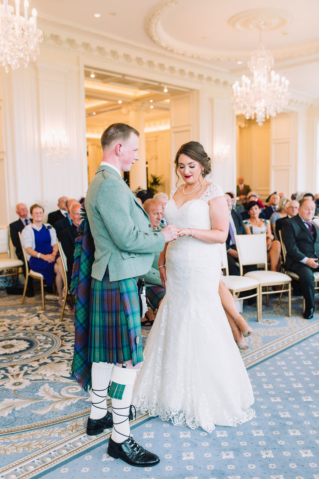 A breathtaking Ayrshire Wedding at Turnberry with sage green and ...