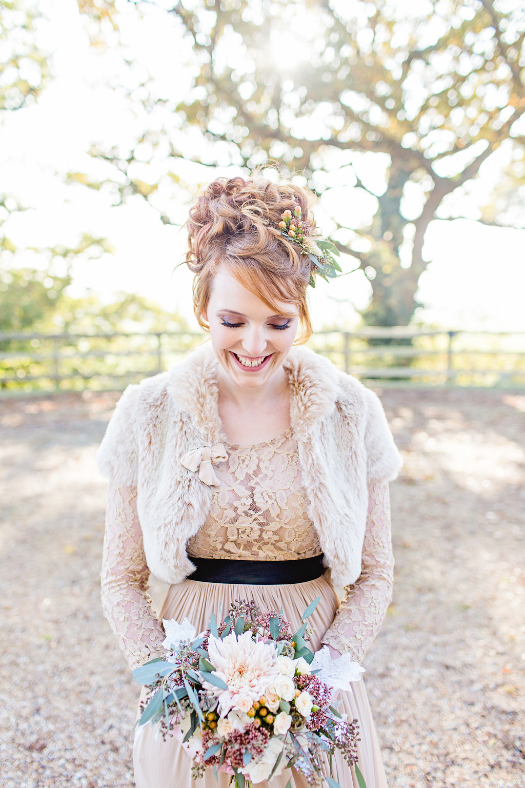 A stunning rustic luxe inspired winter wedding styled