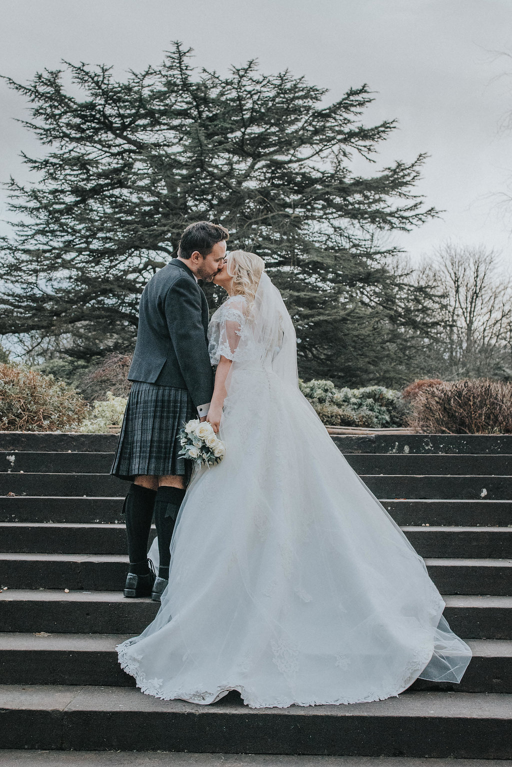 A soft cream and silver winter wonderland wedding at Mar Hall - UK ...