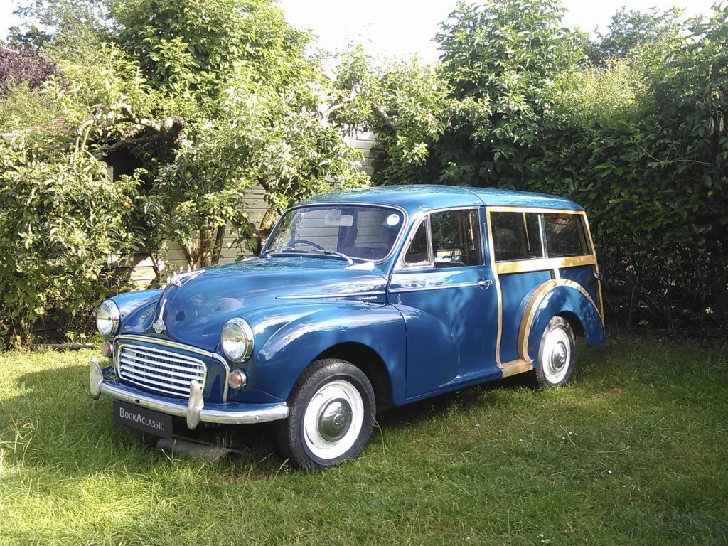 Morris Minor 1000 Traveller - Book a Classic - wedding transport