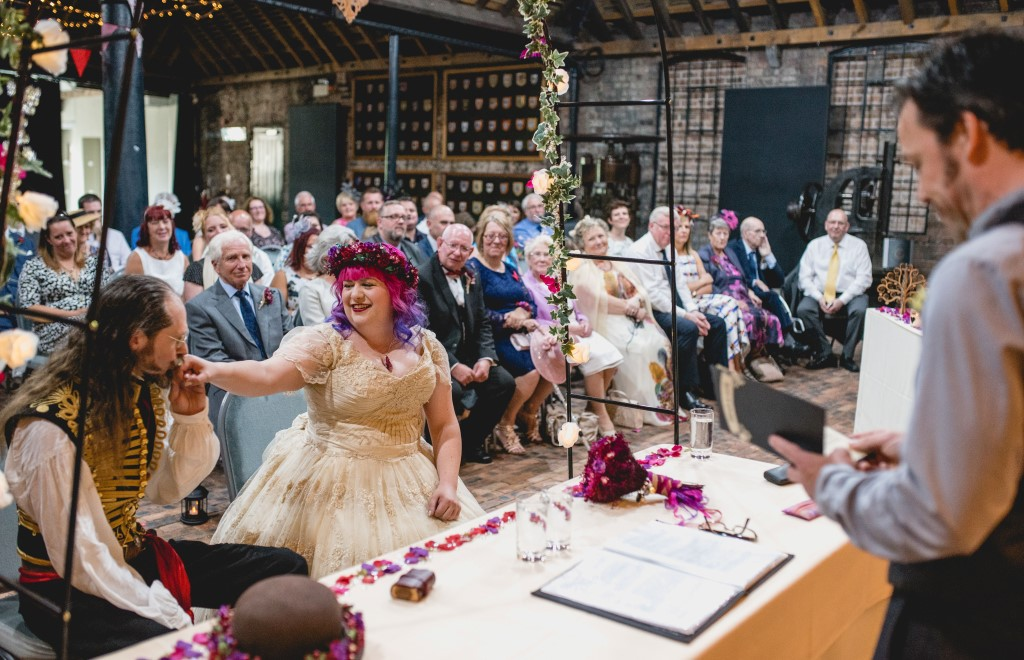 An Amazing Eclectic Steampunk And Carnival Theme Wedding At